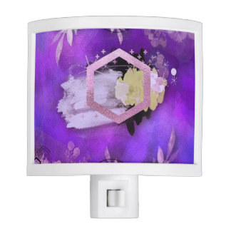 beautiful, ultra violet, abstract,collage,silver,f night light