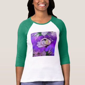 beautiful, ultra violet, abstract,collage,silver,f T-Shirt