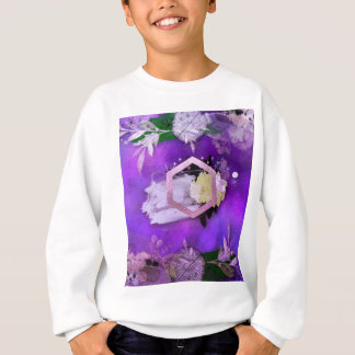 beautiful, ultra violet, abstract,collage,silver, sweatshirt