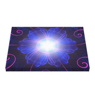 Beautiful Ultra Violet Fractal Nightshade Flower Canvas Print