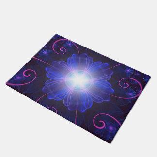 Beautiful Ultra Violet Fractal Nightshade Flower Doormat