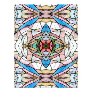 Beautiful Uncommon Artistic Stained Glass Pattern Letterhead