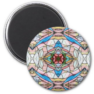 Beautiful Uncommon Artistic Stained Glass Pattern Magnet