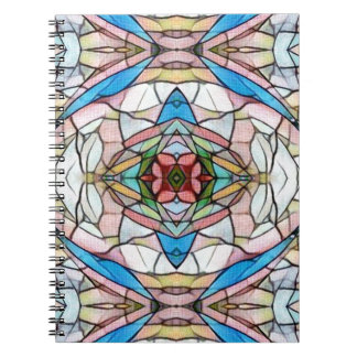 Beautiful Uncommon Artistic Stained Glass Pattern Notebooks