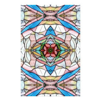 Beautiful Uncommon Artistic Stained Glass Pattern Stationery