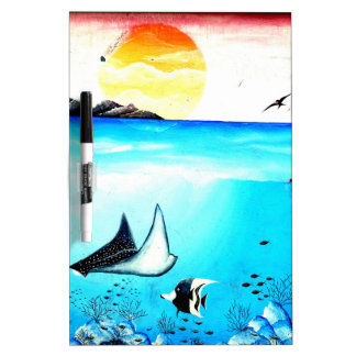 Beautiful Underwater Scene Painting Dry Erase Board