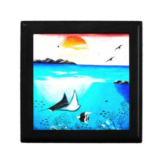 Beautiful Underwater Scene Painting Gift Box