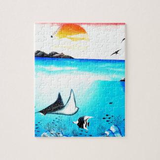 Beautiful Underwater Scene Painting Jigsaw Puzzle