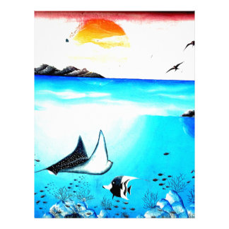 Beautiful Underwater Scene Painting Letterhead