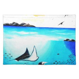 Beautiful Underwater Scene Painting Place Mats