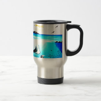 Beautiful Underwater Scene Painting Travel Mug
