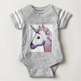 Beautiful Unicorn Emoji Baby Bodysuit