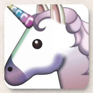 Beautiful Unicorn Emoji Coaster