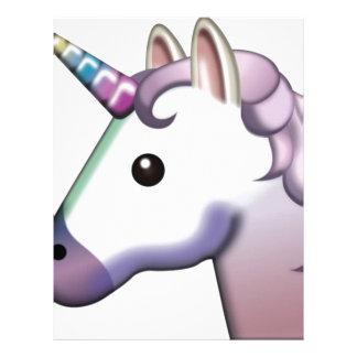 Beautiful Unicorn Emoji Letterhead