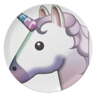 Beautiful Unicorn Emoji Plate