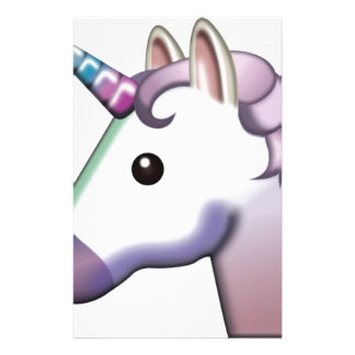 Beautiful Unicorn Emoji Stationery