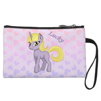 Beautiful Unicorn Wristlet