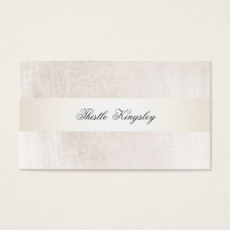 Beautiful Upscale Faux Stain Stripe Ivory Business Card