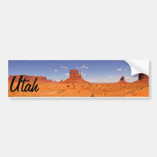 Beautiful Utah rock formation painted desert Bumper Sticker