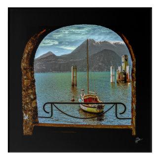 Beautiful Varenna Italy Boat Photography Acrylic Print