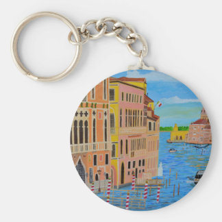 Beautiful Venice Basic Round Button Keychain