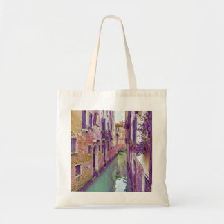 Beautiful Venice Canal in shades of Purple Tote Bag