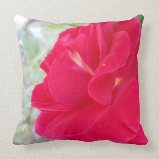 Beautiful Vibrant Rose Patterned Pillow