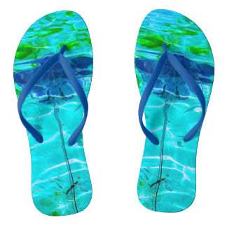 Beautiful Vibrant Sting Ray Flip Flops