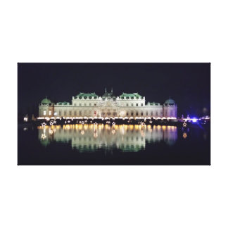 Beautiful Vienna Belvedere in December Canvas Print