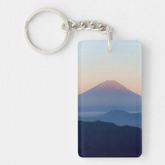 Beautiful view Mt. Fuji, Japan, Sunrise Double-Sided Rectangular Acrylic Keychain