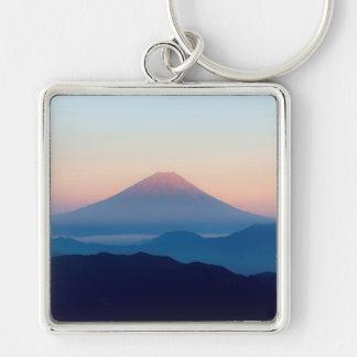 Beautiful view Mt. Fuji, Japan, Sunrise Keychain