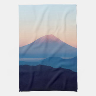 Beautiful view Mt. Fuji, Japan, Sunrise Kitchen Towels