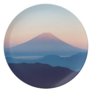 Beautiful view Mt. Fuji, Japan, Sunrise Plate