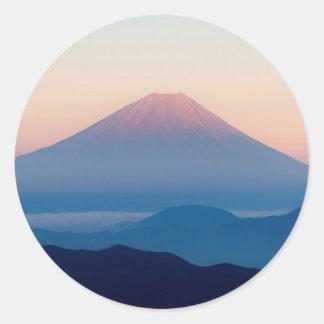 Beautiful view Mt. Fuji, Japan, Sunrise Round Sticker