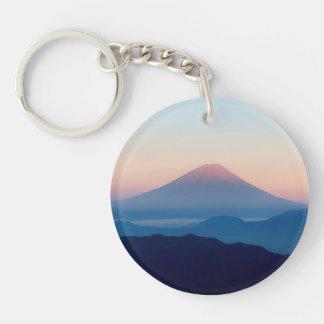 Beautiful view Mt. Fuji, Japan, Sunrise Single-Sided Round Acrylic Keychain