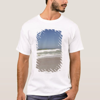 Beautiful view of beach against clear sky 3 T-Shirt