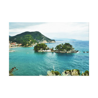 Beautiful view of Parga islet, Greece Canvas Print