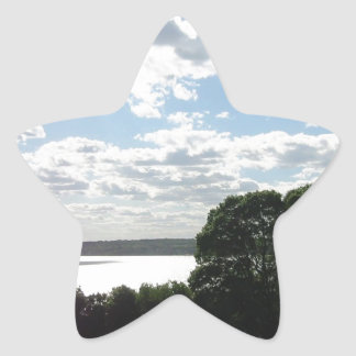 Beautiful view of the sky & water in Newport Star Sticker