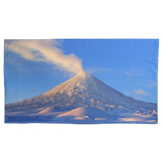 Beautiful view of winter volcanic landscape pillowcase
