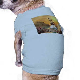 Beautiful view over the sea pet tshirt