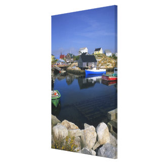 Beautiful village of Peggy's Cove with harbor Canvas Print