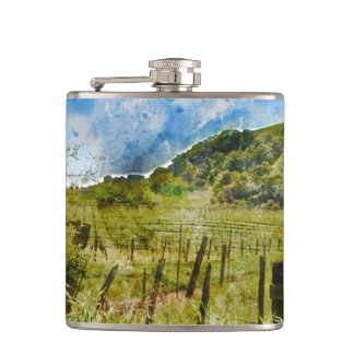 Beautiful Vineyard in Napa Valley Flasks