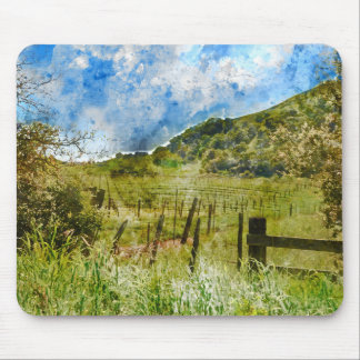 Beautiful Vineyard in Napa Valley Mouse Pad
