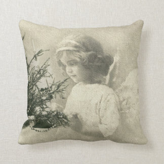 Beautiful  vintage Angel Christmas print Pillow