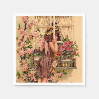 Beautiful Vintage Angel paper napkin