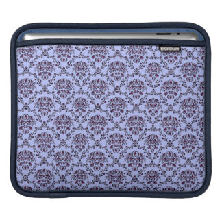 Beautiful vintage Art Nouveau blue wallpaper iPad Sleeve