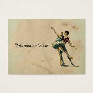 Beautiful Vintage Ballet Couple Dancing Business Card