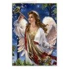 Beautiful Vintage Christmas Angel Card