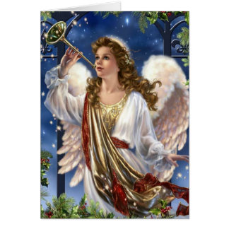 Beautiful Vintage Christmas Angel Card