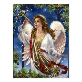 Beautiful Vintage Christmas Angel Postcard